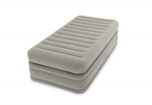 Intex Fiber-Tech Prime Comfort Single Size Raised Airbed with Built in Electric Pump