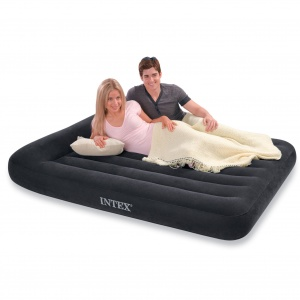 Intex Pillow Rest Classic Double Size Airbed with Built in Electric Pump