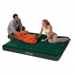 Intex Queen Size Downy Airbed with Built in Foot Pump
