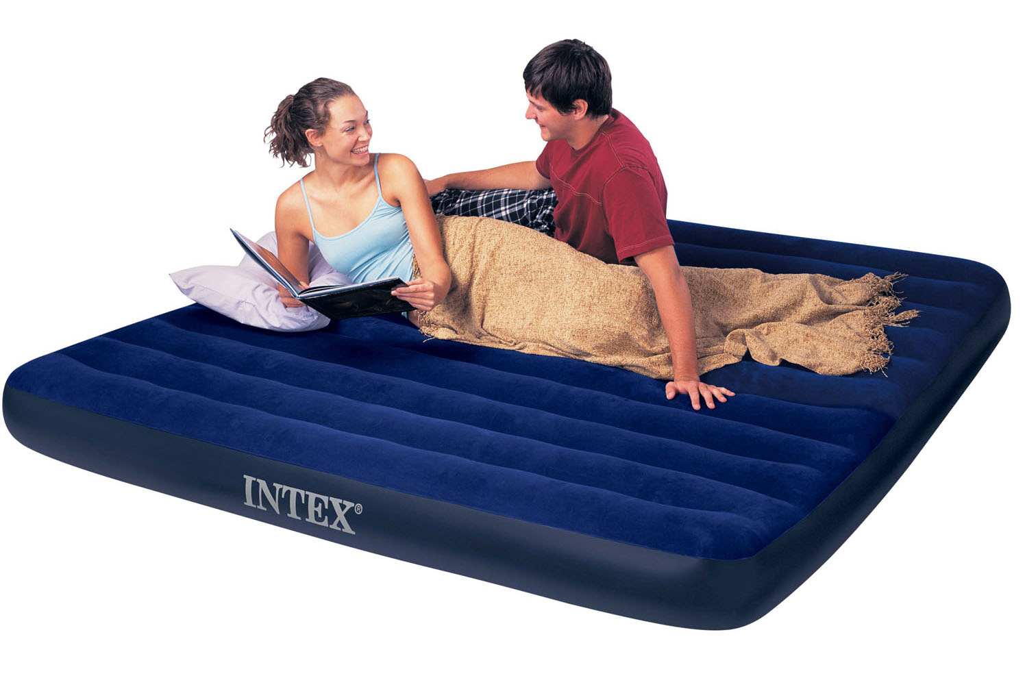 king size air mattress. Intex King Size Classic Downy Airbed Air Mattress