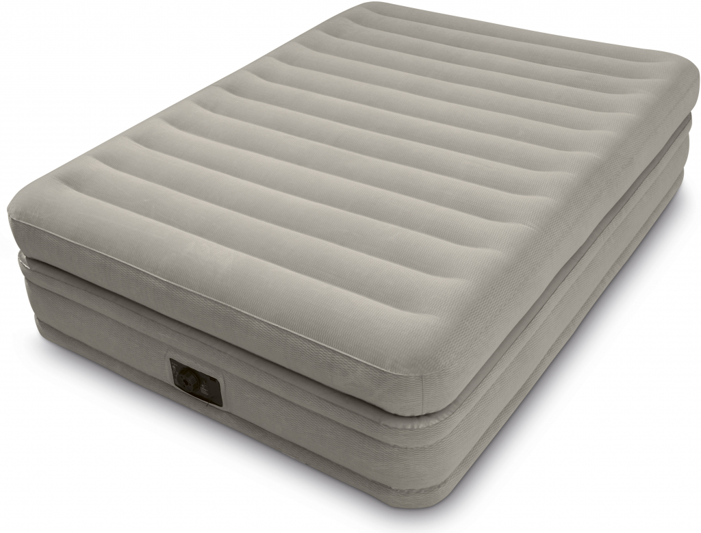 intex fiber tech prime comfort queen size raised airbed with built in electric pump only. Black Bedroom Furniture Sets. Home Design Ideas