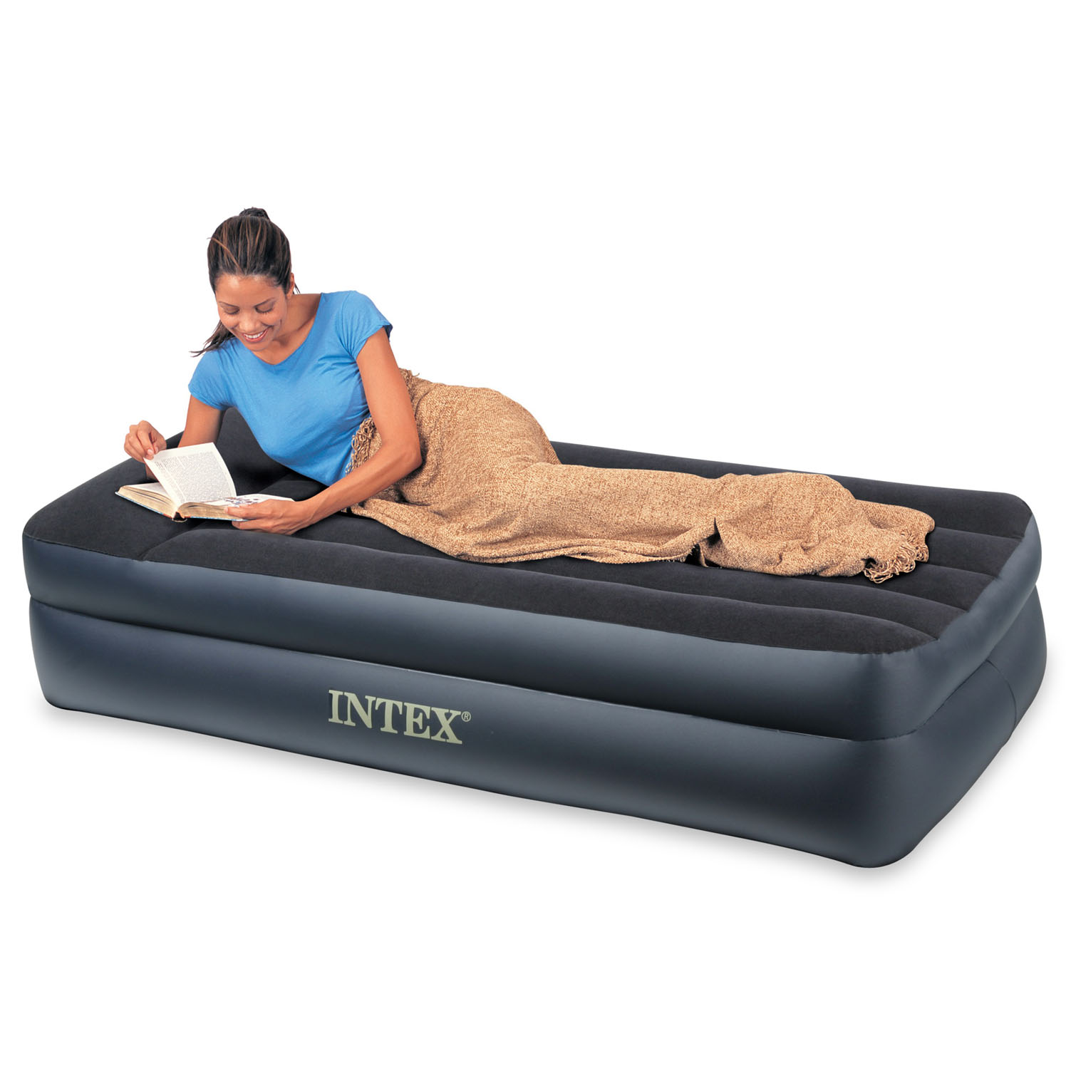 Intex Single Size Pillow Rest Airbed - Only-Airbeds.co.uk