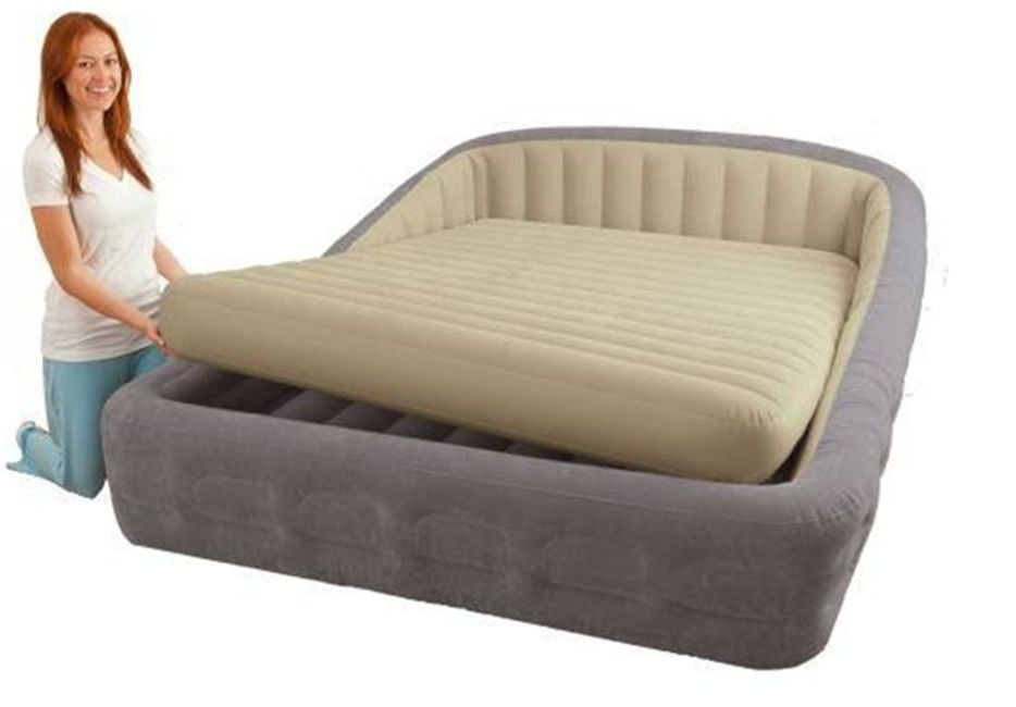 Details About Intex Queen Deluxe Raised Frame Comfort