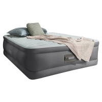 Intex Fiber-Tech Double Size PremAire Raised Airbed with Built-in Electric Pump, Night Light and USB Port