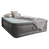 Intex Fiber-Tech Queen Size PremAire Raised Airbed with Built-in Electric Pump, Night Light and USB Port