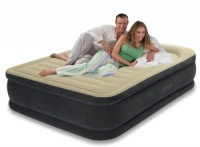 Intex Premium Comfort Queen Size High Rise Airbed with Built in Electric Pump