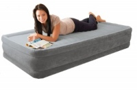 Intex Comfort Plush Mid Rise Single Size Airbed with Built in Electric Pump