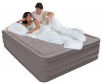Intex Queen Size Foam Top Airbed with Built-in Electric Pump