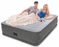 Intex Comfort Plush Raised Queen Size Airbed with Built in Electric Pump