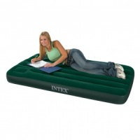 Intex Single Size Downy Airbed with Built in Foot Pump