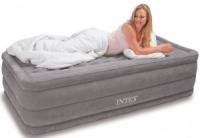 Intex Ultra Plush Single Size Airbed with Built in Electric Pump