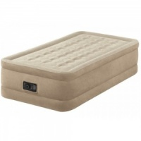 Intex Fiber-Tech Ultra Plush Single Size Airbed with Built in Electric Pump