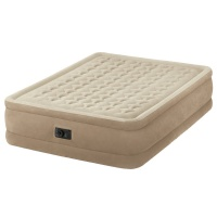 Intex Fiber-Tech Ultra Plush Queen Size Airbed with Built in Electric Pump