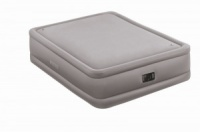 Intex Queen Size Fiber-Tech Foam Top Airbed with Built-in Electric Pump