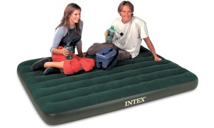 Intex Double Size Prestige Downy Airbed with Battery Pump