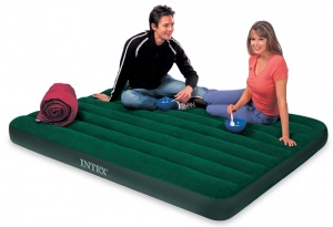 Intex Queen Size Prestige Downy Airbed with Battery Pump