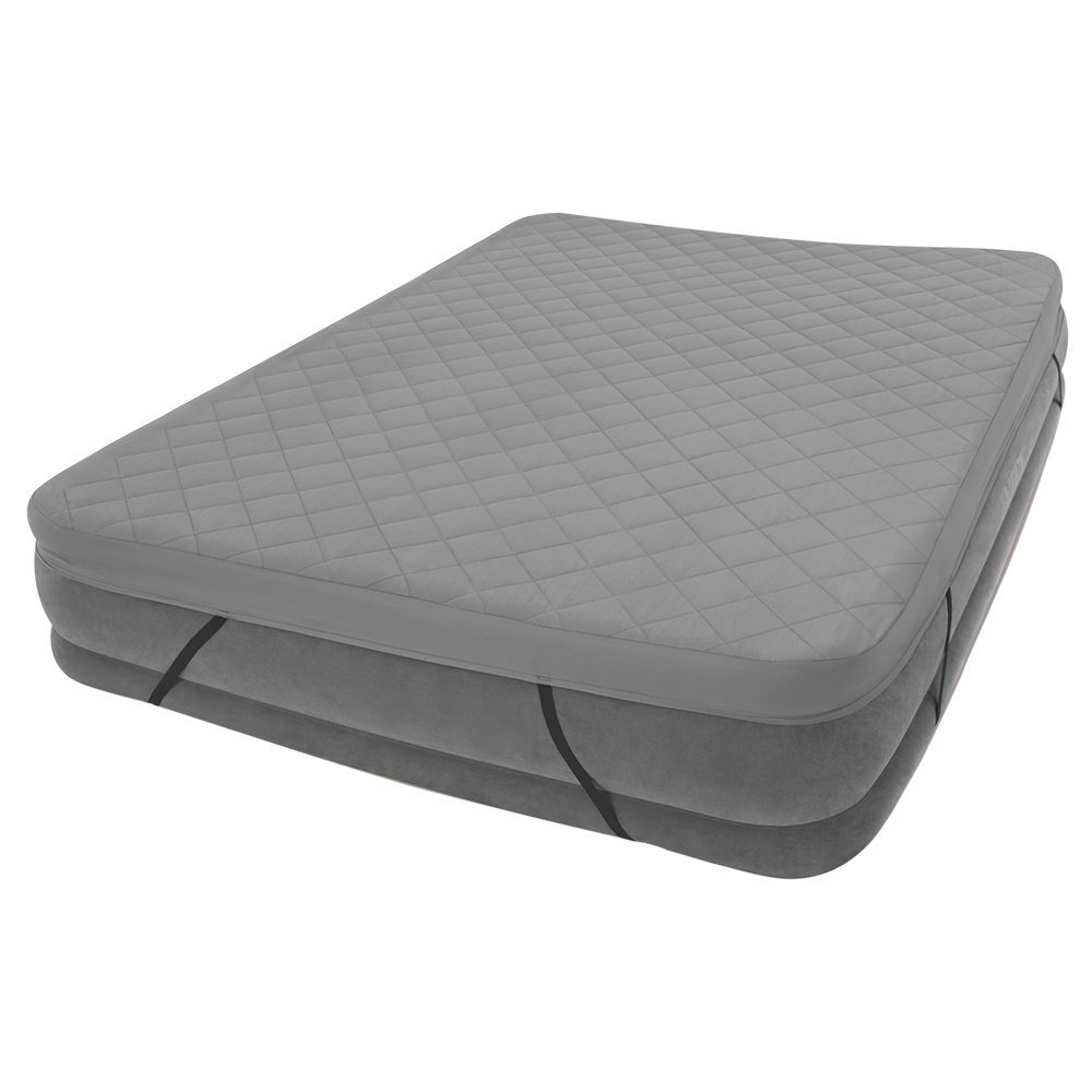 Intex comfort plush mid rise queen size airbed with built for Lit queen size taille