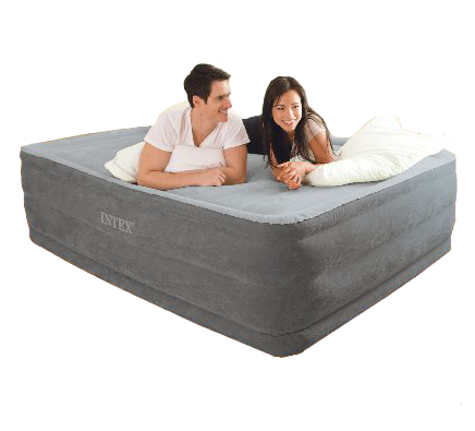 c675293f86318 Intex Comfort Plush High Rise Queen Size Airbed with Built in ...