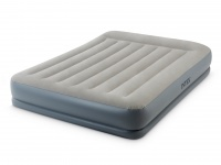 Intex Fibre-Tech Pillow Rest Mid-Rise Queen Size Airbed with Built in Electric Pump