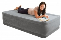 Intex Comfort Plush Raised Single Size Airbed with Built in Electric Pump